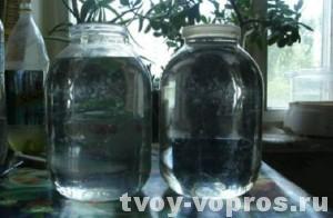 Отстаиваем воду в стеклянных банках