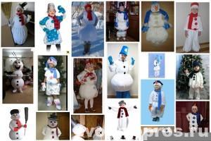 Примеры новогодних карнавальных костюмов снеговика